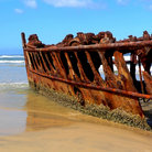 Picture - Shipwreck of the Maheno, Fraser Island.