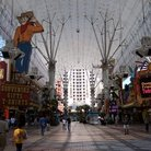 Picture - Daytime view of Fremont Street in Las Vegas.