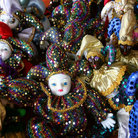 Picture - Good luck Mardi Gras dolls at the French Market in New Orleans.