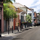 Picture - Typical street in the French Quarter of New Orleans.