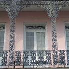 Picture - Ornate balcony railing in the French Quarter of New Orleans.