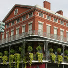Picture - Traditional brick building in French Quarter, New Orleans.