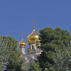 Picture - The Russian Orthodox Church on the Mount of olives in Jerusalem.