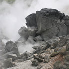 Picture - Volcanic rock and hot springs at Hakone.