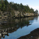 Picture - The rock shoreline of Galiano Island.