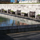 Picture - Reflective pool in Garden of Remembrance in Dublin.