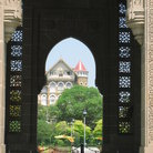Picture - The Royal Bombay Yacht Club from the arches of the Gateway of India.