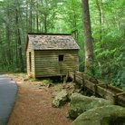 Picture - Old Mill at Roaring Forks near Gatlinburg, Tennessee.