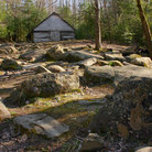 Picture - Rocky path leads to Barn in Gatlinburg, Tennesee.