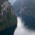 Picture - Looking down over the Geiranger fjord.