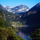 Picture - The fjord at Geiranger.
