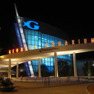 Picture - Exterior of Georgia Aquarium at night, Atlanta.