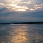 Picture - Sunset over the Ganges.