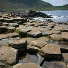 Picture - Rock formations at the Giant's Causeway.