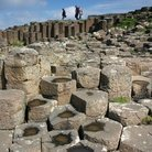 Picture - Hexagonal basalt steps of the Giant's Causeway.
