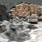Picture - Stones that make up the Giant's Causeway.