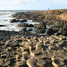 Picture - The Giant's Causeway along the coast of Northern Ireland.