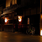 Picture - A night view of the gion-geisha ward in Kyoto.