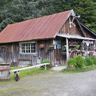 Picture - An old miners shack in Girdwood.