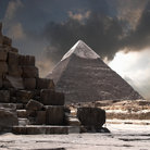 Picture - The Chefren pyramid at Giza.