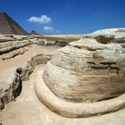 Picture - View from behind the Sphinx in Giza.