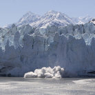 Picture - Calving glacier in Glacier Bay National Park.