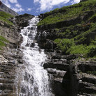 Picture - The weeping wall at Glacier National Park.