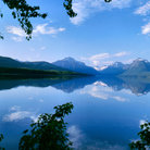 Picture - Calm waters of Lake MacDonald in Glacier National Park.