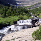 Picture - A waterfall in Glacier National Park.