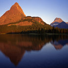 Picture - Swiftcurrent Lake in Glacier National Park.