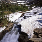 Picture - A waterfall along the Going to the Sun Road in Glacier National Park.
