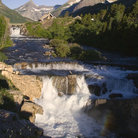 Picture - Swiftcurrent Falls in Glacier National Park.
