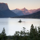 Picture - Sunrise at Wild Goose Lake in Glacier National Park.