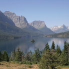 Picture - Mountains surrounding St Mary Lake in Glacier National Park.