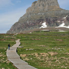 Picture - Walkway at Hidden Lake Hiking Trail at Glacier National Park.