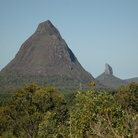 Picture - A peak in the Glass House Mountains.