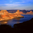 Picture - A butte in Lake Powell at the Glen Canyon National Recreation Area.