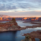 Picture - Sunset on the Glen Canyon National Recreation Area.
