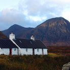 Picture - An old stone cottage in Glencoe.