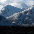 Picture - Snow covered Black Mountain in Glencoe.