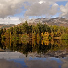 Picture - Reflection in Loch Lochan, Glencoe.