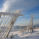 Picture - A snow fence on Glenshee.