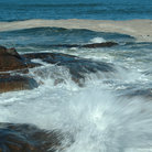 Picture - Waves at Bass Rocks, Gloucester, MA.