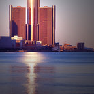 Picture - Renaissance Center across the water in Detroit.