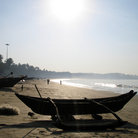 Picture - Boat on Palolem Beach in Goa.