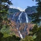 Picture - A waterfalls in Goa.