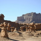 Picture - Temple Mountain seen from Goblin Valley State Park.