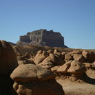 Picture - Goblin Valley State Park and Temple Mountain.