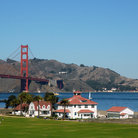 Picture - Crissy Field and Golden Gate Bridge, San Francisco.