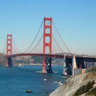 Picture - San Francisco Golden Gate Bridge with Marin County in the background.